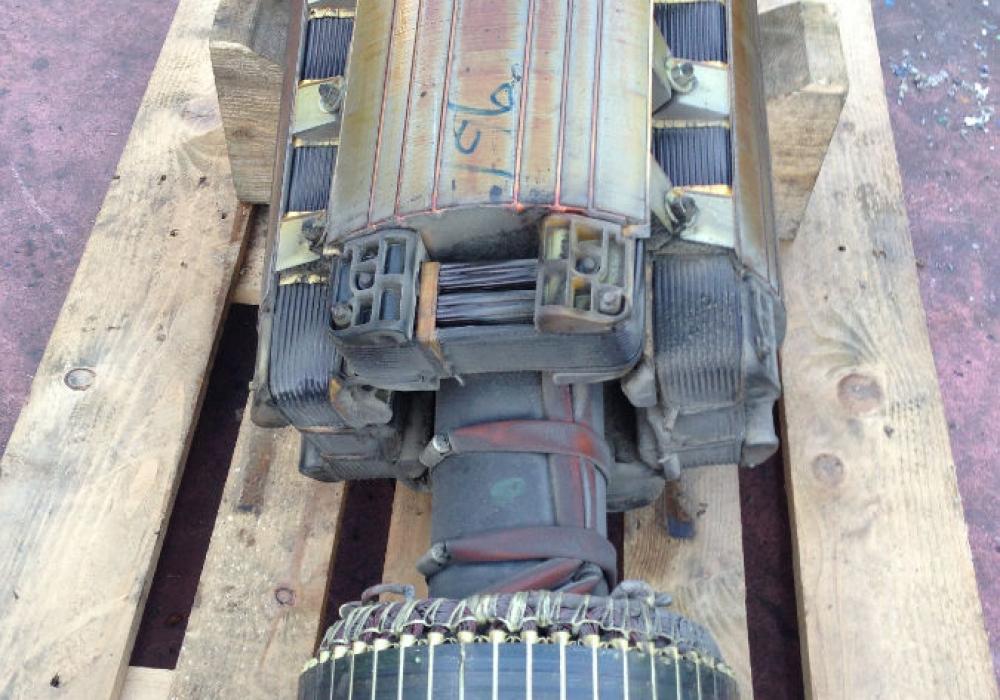 Revisione alternatore Leroy Somer KVA 455-2_prima
