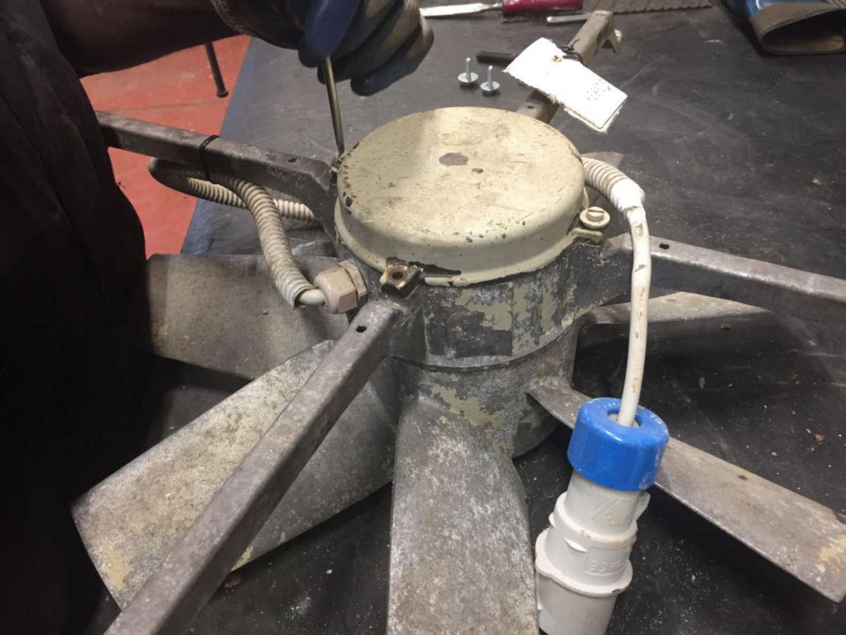 Smontaggio ventilatore